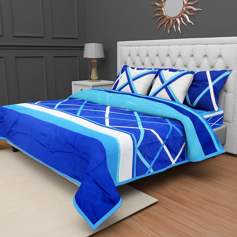 Barbican キルト 90 x 108インチ 低刺激性 精巧な縫い オールシーズン ベッドカバー 洗濯可能 丈夫 クイーン Bed Cover Dark Blue - 1 B07P2F9YQR ダークブルー