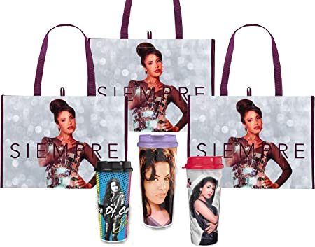 EXCLUSIVE Selena 2 Tumbler Cups 2 Large Tote Bags Collectible Promotional Bundle