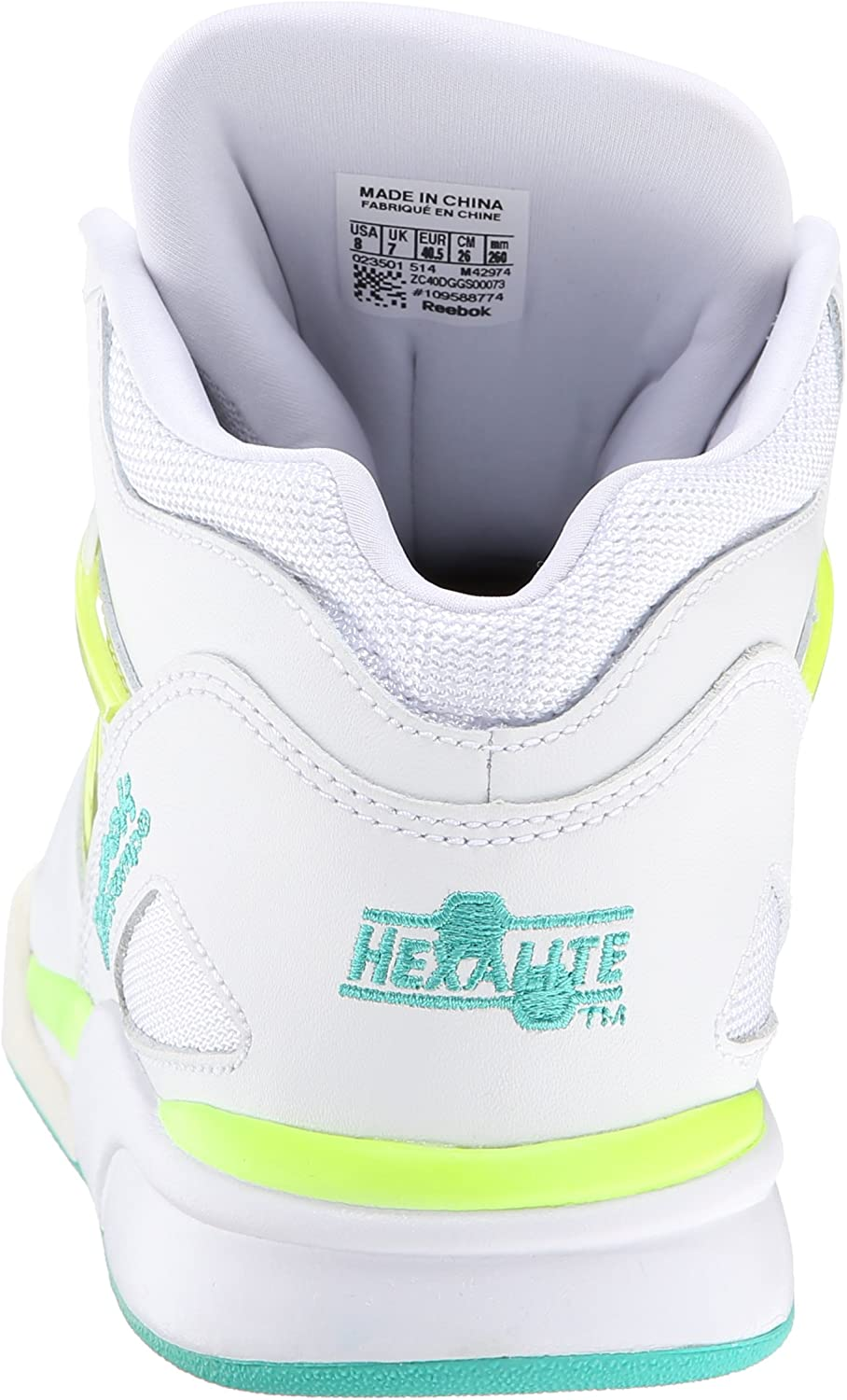 Reebok Pump Omni Lite Timeless TealWhiteSolar Yellow