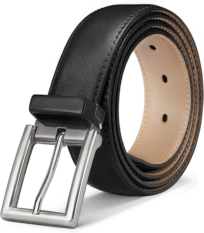 Mens Belt, Bulliant Genuine Leather Belt Adjustable for Men's Dress Jeans Golf Belt, Trim For Any Length at  Men's Clothing store
