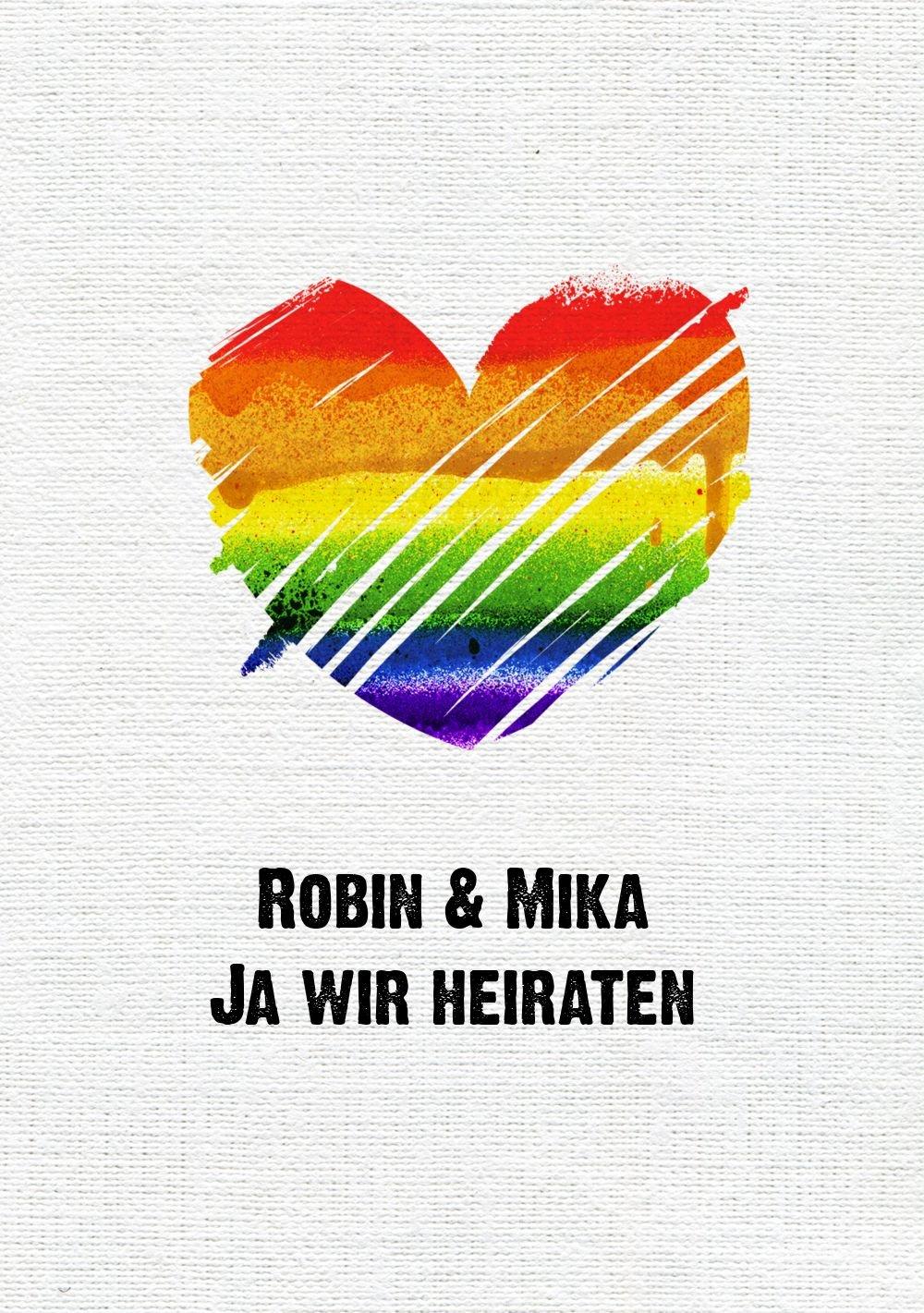 Hochzeit Einladung Regenbogenliebe, 20 Karten, Weiß B07B6R35J8 B07B6R35J8 B07B6R35J8 | Realistisch  | Komfort  | Schön geformt  acc698