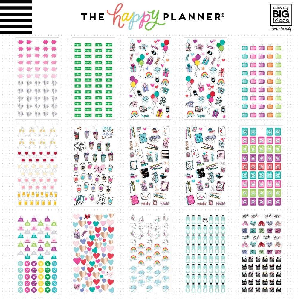 happy planner sticker book icon planner accessories