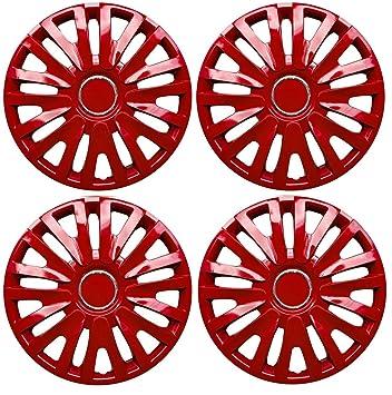 "Set de 4 tapacubos 15 ""rojo/Hub Caps para Ford Fiesta, Focus"