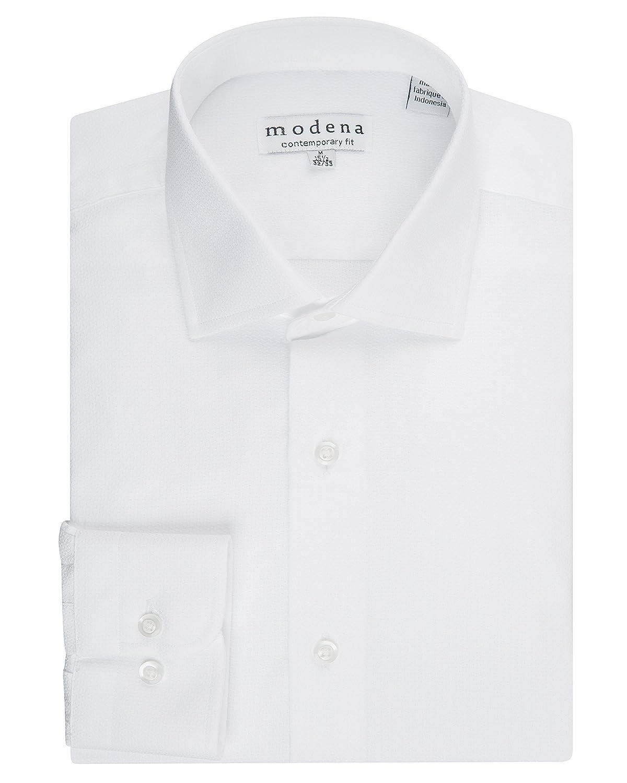 Modena Mens Contemporary Slim Fit Long Sleeve Dress Shirt