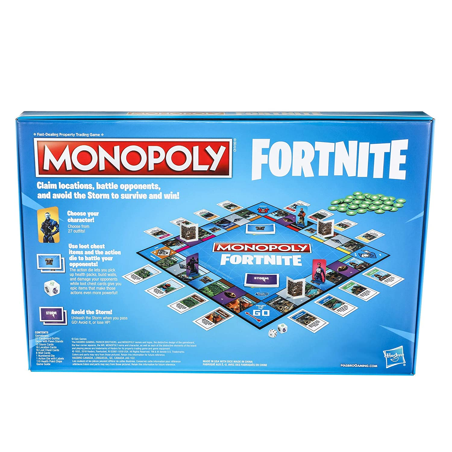 Hasbro Monopoly Fortnite Edition Board Game Inspired By Fortnite