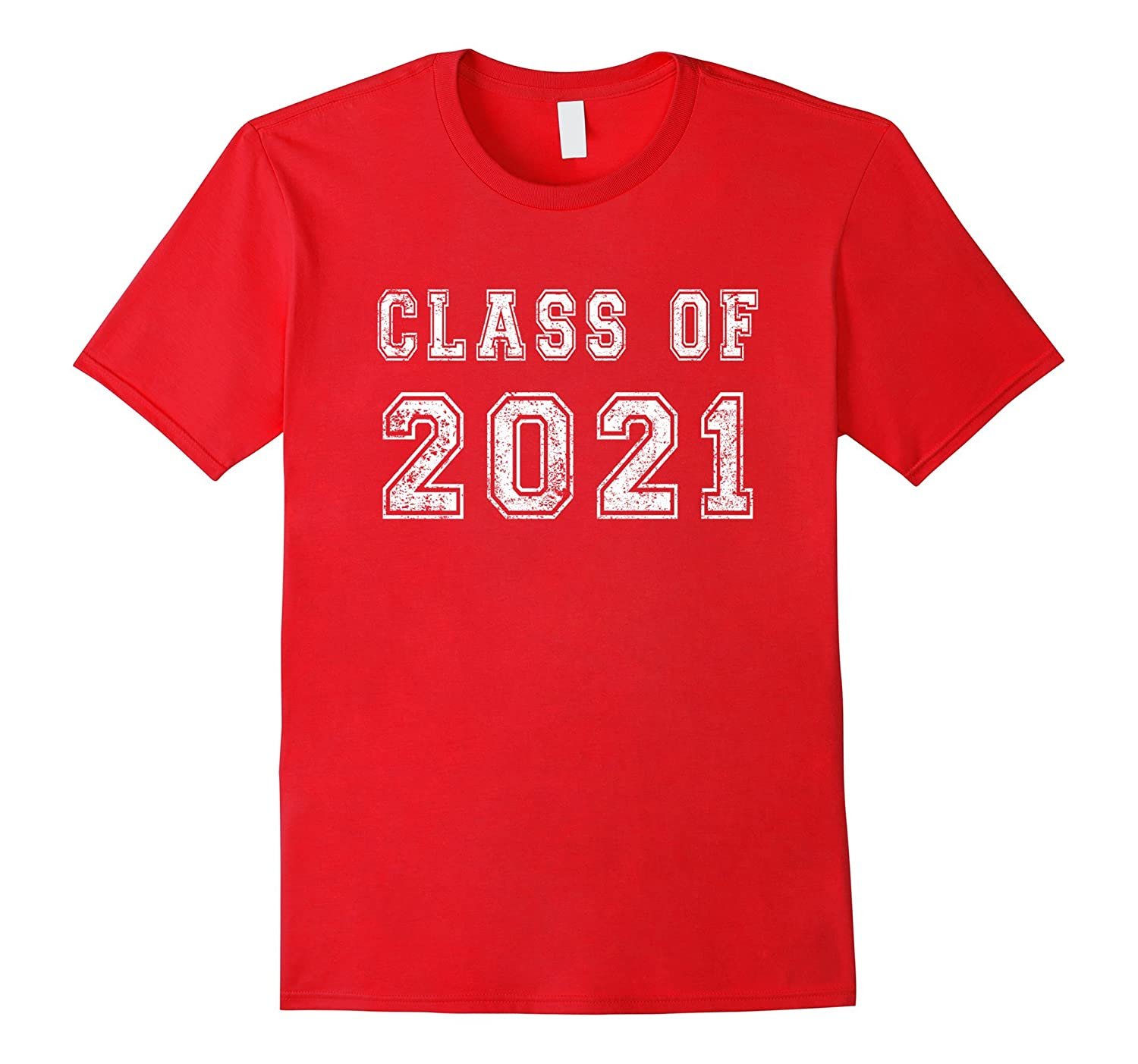 Class Of 2021 High School Graduation Date Distressed T-Shirt-TH