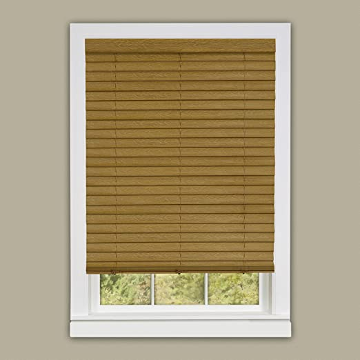 "Window Blind 2/"" Slats Mini Blinds Vinyl Embossed Woodgrain Mahogany Woodtone"