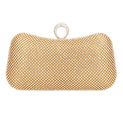 c4b514cb5a03 Bonjanvye Knuckle Clutch Bags for Girls Gandbags Wholesale Purses AB Gold