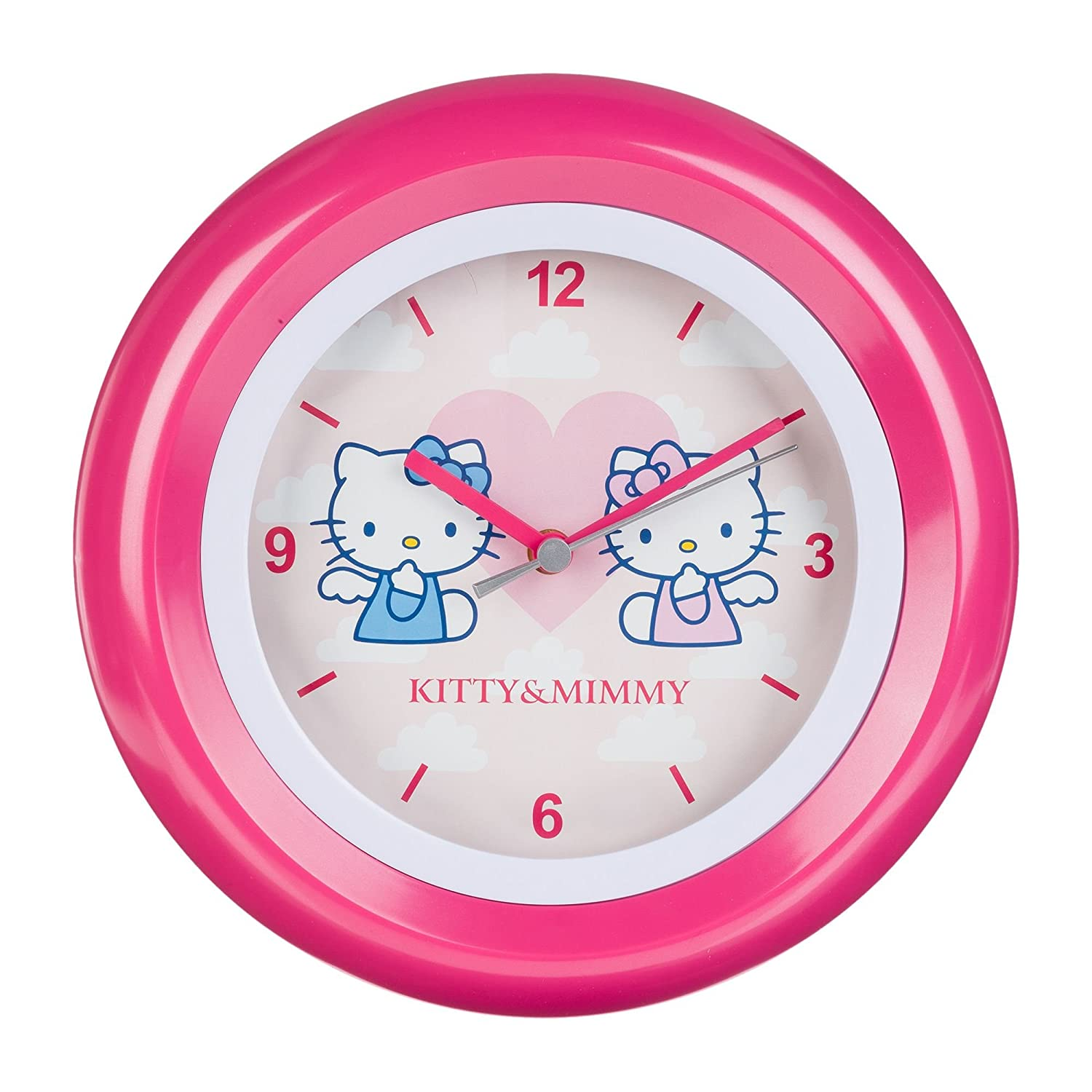 Hello Kitty - Kinder Wanduhr Analog