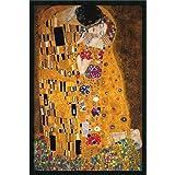 Framed Art Print, The Kiss (Le Baiser/Il Baccio), 1907' by Gustav Klimt: Outer Size 25 x 37