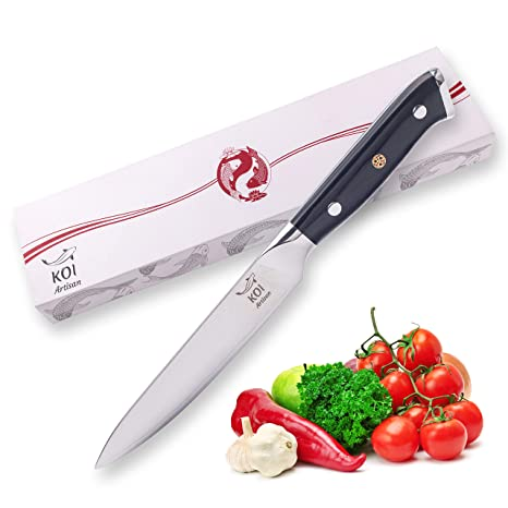 Koi Artisan - Cuchillo de utilidad de 12,7 cm - cuchillos ...