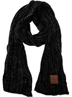 3b5cfede095d2 C.C Women s Ultra Soft Chenille Ribbed Thick Warm Knit Shawl Wrap Scarf