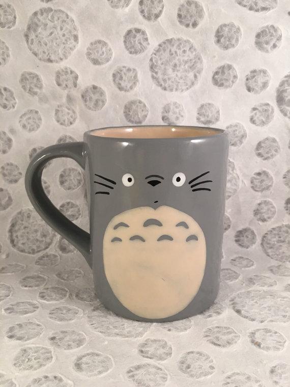 Totoro Inspired Mug by HandPaintedNerd on Etsy