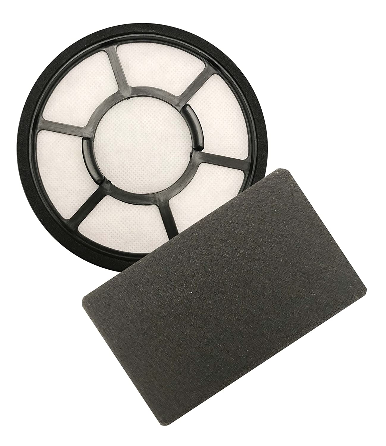 Think Crucial Replacement Kit Black & Decker Pre Filter & Carbon Filter, Compatible BDASV102 Airswivel Vacuum Cleaners