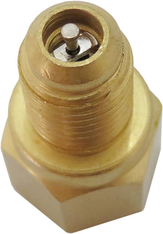 JEM/&JULES New R134A Adapters Refrigerant Tank//Vacuum Pump 1//4 Flare Female x 1//2ACME Male