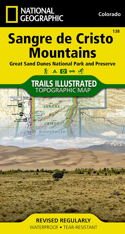 Sand Dunes Colorado Map.Sangre De Cristo Mountains Great Sand Dunes National Park Preserve