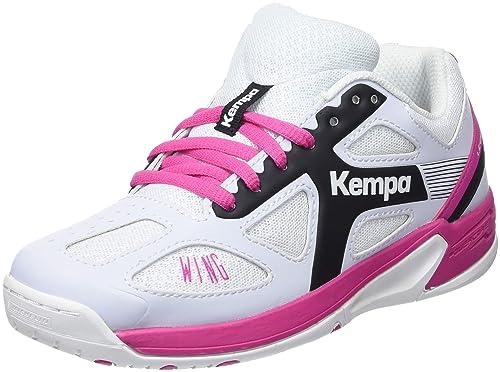 Kempa Wing Junior, Zapatillas de Balonmano Unisex niños, (Blanco/Negro/Fucsia 000), 28 EU: Amazon.es: Zapatos y complementos