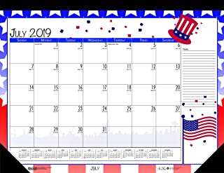 product image for House of Doolittle 2019-2020 Monthly Seasonal Desk Pad Calendar, Academic, 22 x 17 Inches, July - June (HOD1395-20)