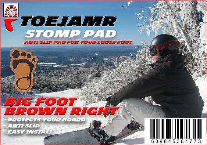 Brown ToeJamR Right Furry Bigfoot Stomp Pad
