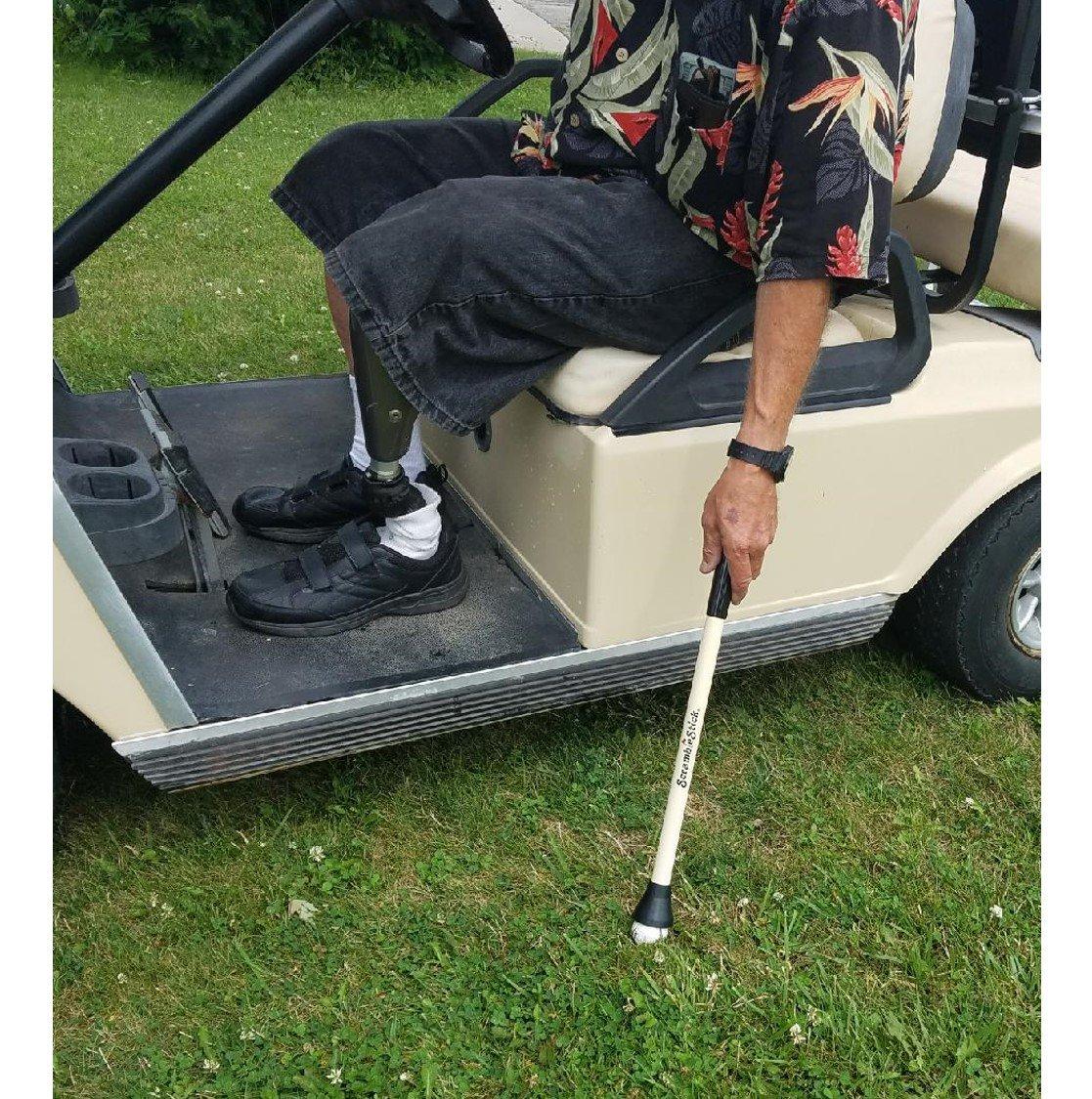 Scramble Stick The Original Shorty Golf Ball Retriever, Lightweight Design, 20-inch, 2-Pack by Scramble Stick (Image #2)