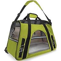Binrrio Katzentragetasche,Hundetragetasche,Haustier Tragetasche,Fluggesellschaften zugelassen, Weichen,Breathable perfekt für Kleine Hunde und Katzen