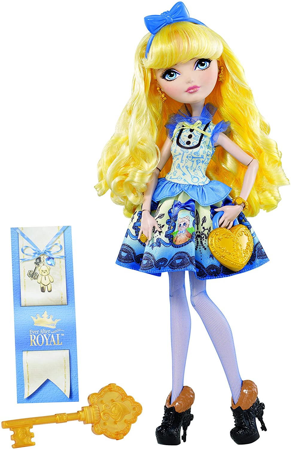 EVER AFTER HIGH JUST SWEET BLONDIE DOLL REPLACEMENT BLUE ANGORA SHRUG WRAP SHAWL