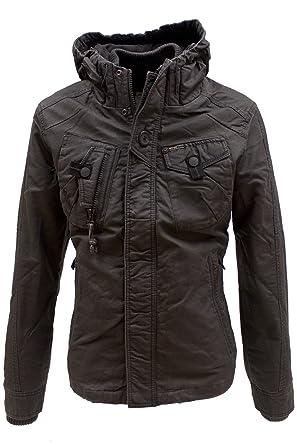khujo Coated Vintage Jacke Franco anthrazit in S  Amazon.de  Bekleidung c554d00933