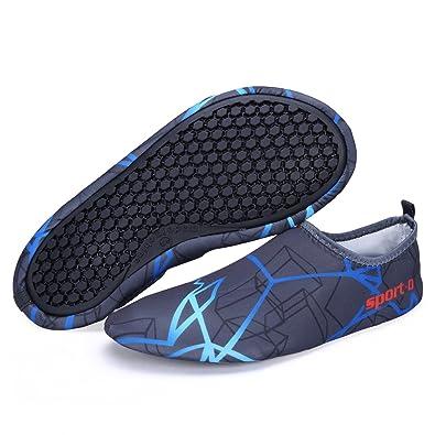 44aa8f104324 Kitleler Water Skin Shoes Men Women Quick Dry Aqua Socks Barefoot Shoes For  Run Dive Surf