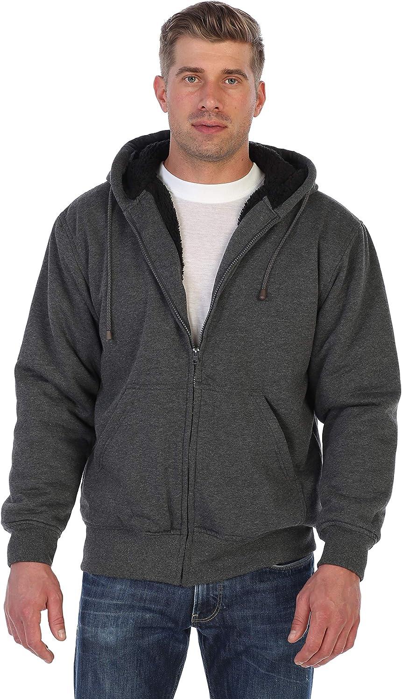 Gioberti Männer Heavyweight Sherpa Lined Fleece Hoodie Jacket