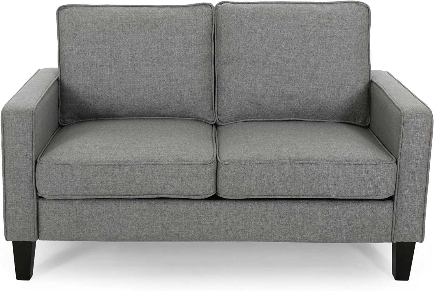 Christopher Knight Home Ophelia Traditional Fabric Loveseat, Gray