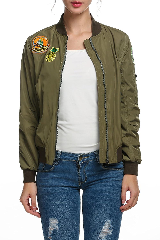 Zeagoo Womens Classic Quilted Jacket Short Padded Bomber Jacket Coat
