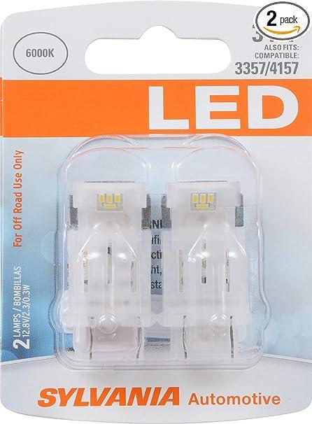 SYLVANIA 3457 White LED Bulb, (Contains 2 Bulbs)