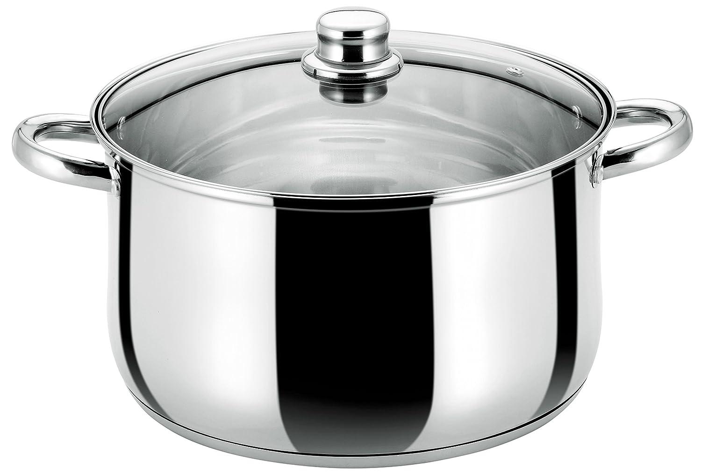 Buckingham Tiefe Kasserolle Pfanne mit Glas Deckel, Edelstahl, Induktion, 28cm