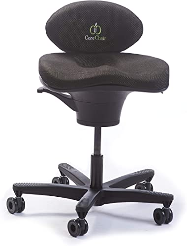CoreChair Classic Premium Ergonomic Active-Sitting Office Chair | Patented Design to Promote Movement to Build Core Strength and Posture