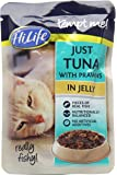 HiLife Tempt Me Cat Food Just Tuna with Prawns in Jelly-Pack of 16