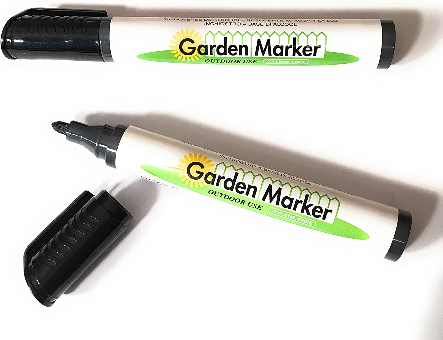 DP INDUSTRIES Clip Strip Garden Marker Pen, Pack of 2 (GM77BLK-2PK)