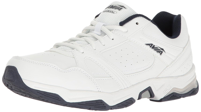 Avia Men's Avi-Rival Walking Shoe 12 D(M) US|White/True-navy/Chrome Silver