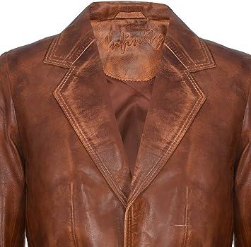 Infinity Leather Blazer de Cuero Genuino de Bronceado para Hombre Suave Italiano a Medida Chaqueta de Abrigo XS: Amazon.es: Ropa y accesorios