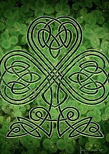 "Toland Home Garden 1112459 Celtic Shamrock 12.5 x 18 Inch Decorative, Garden Flag (12.5"" x 18"")"