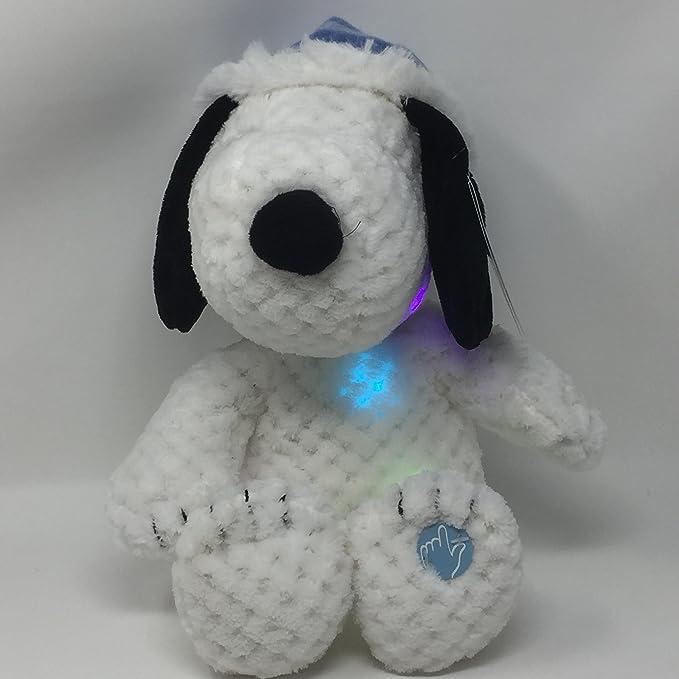 "1 Peanuts Musical Light Up Snoopy Plush Plays Deck the Halls Jingle Bells 16/"""
