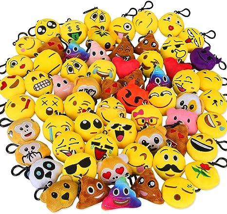 Amazon.com: Dreampark Emoji llavero Mini lindo felpa ...