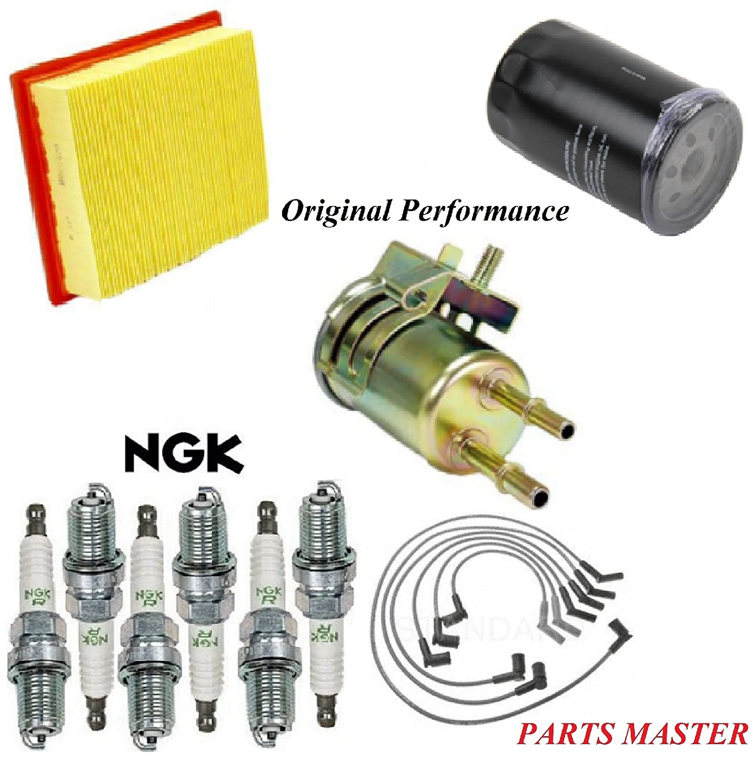 8USAUTO Tune Up Kit Air Oil Fuel Filters Wire Spark Plug Fit FORD RANGER V6 3.0L 2001-2002