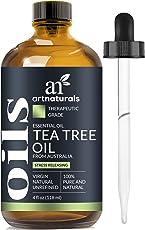 ArtNaturals 100% Pure Tea Tree Essential Oil - (4 Fl Oz/120ml) - Natural Premium Melaleuca Therapeutic Grade - Great with Soap and Shampoo, Face and Body Wash - Treatment for Acne, Lice