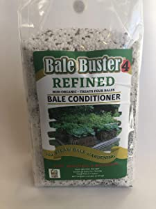 BaleBuster4 Four Bale Conditioning Formula for Preparation of a Straw Bale Garden for Planting a Vegetable Gardens (not Certified Organic)