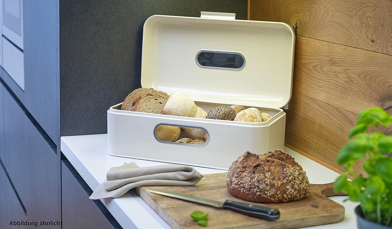 Echtwerk EW-BB-0125S Bo/îte /à pain r/étro en m/étal Cr/ème