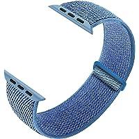 Sport vervangende riem Compatibel met Apple Watch Straps 38mm 40mm 42mm 44mm, Ademend Nylon Polsbandjes Compatibel met…