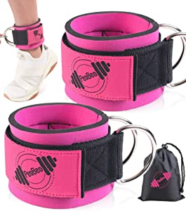 PeoBeo Ankle Straps for Cable Machine, Ankle Cable Attachments for Gym Ankle Cuffs Cable Machines for Women