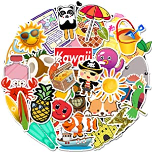 Cute Stickers 50 PCS, Stickers for Teens,Girls,Kids,Adults - Stickers for Waterbottles,Laptop,Phone,Hydro Flask Travel Vinyl Stickers Waterproof (Cartoon Series-C)