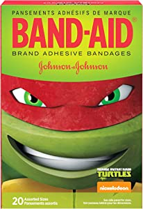Band-Aid Brand Adhesive Bandages, Nickelodeon Teenage Mutant Ninja Turtles, Assorted Sizes, 20 ct