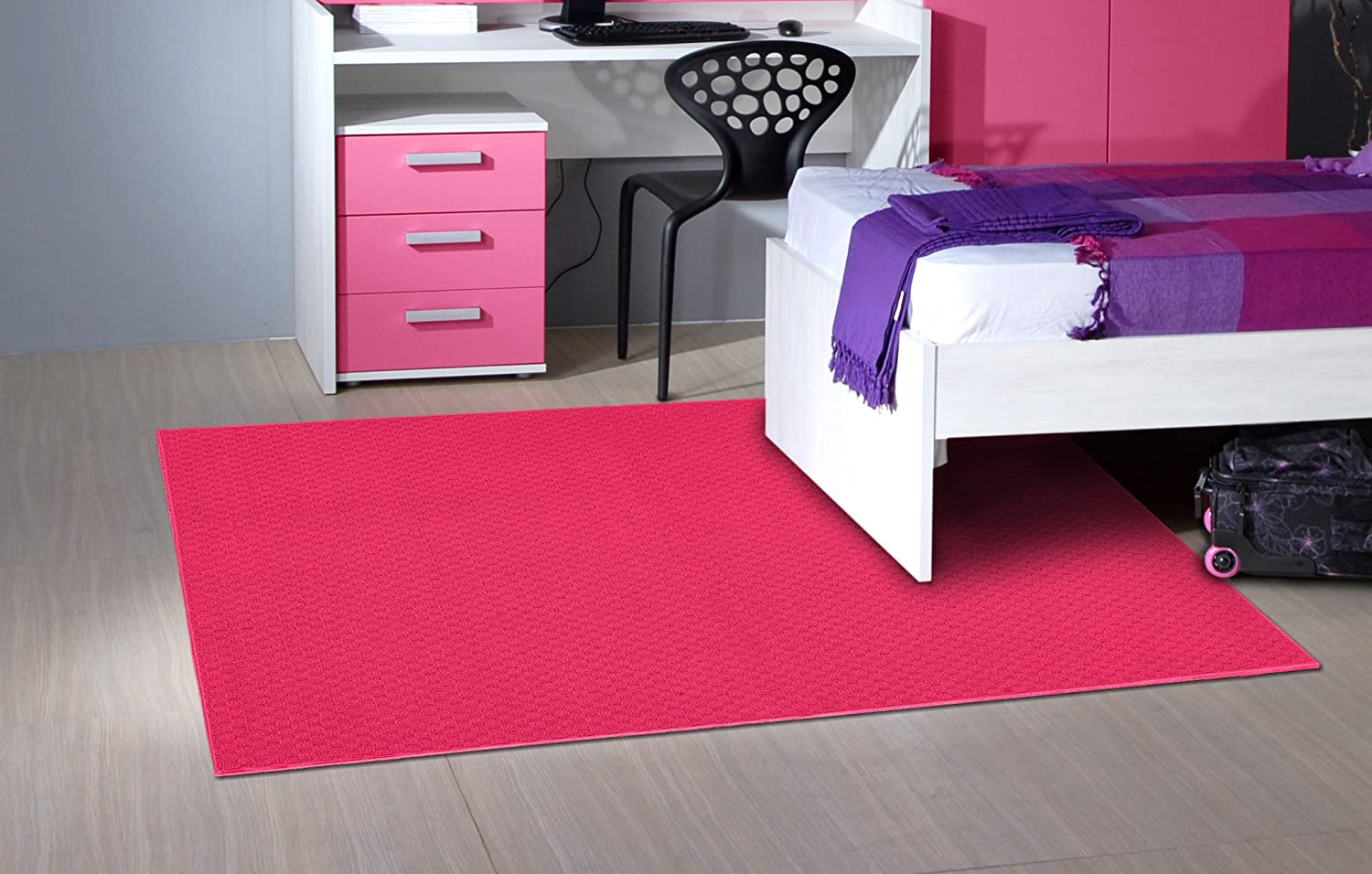 Garland Rug Town Square Area Rug, 4-Feet by 6-Feet, Pink